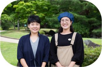 町分マルシェ実行委員会 細田 真弓さん、齊藤 遥さん